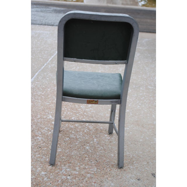 Mid-Century Industrial Tanker Desk Chair For Sale - Image 5 of 9
