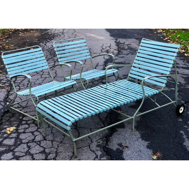 Mid Century Modern Patio Furniture Set Lounge & Chairs For Sale - Image 13 of 13