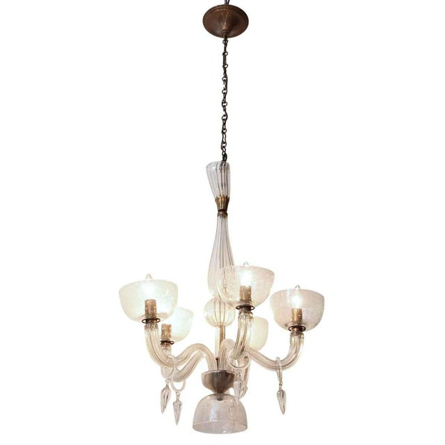 Segusa Mid-Century Modern Blown Glass Chandelier For Sale - Image 9 of 10