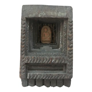 Old Indian Wooden Hand Carved Deity Altar For Sale