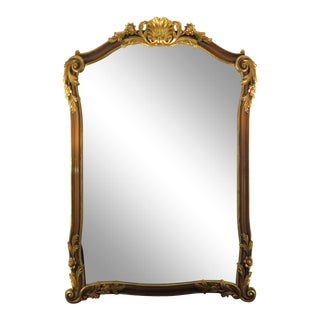 Georgian Style Gold Gilt & Walnut Finish Mirror For Sale