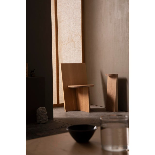 Not Yet Made - Made To Order Campagna |) Set Table in White Oak For Sale - Image 5 of 7