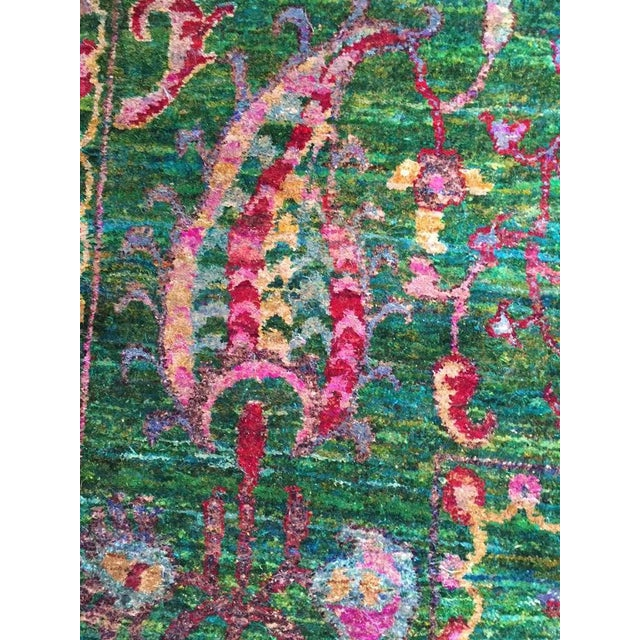Abstract Expressionism Eva Sari Silk Rug - 7′9″ × 11′6″ For Sale - Image 3 of 7