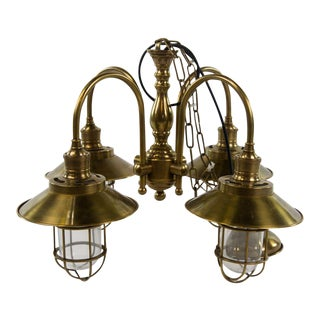 Watson Ceiling Lamp With Glass Bulb Protectors For Sale