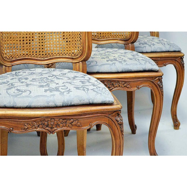 French Country Caned Dining Chairs, Set of 6 - Image 4 of 5