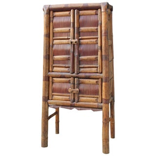 20th Century Asian Bamboo Cabinet For Sale