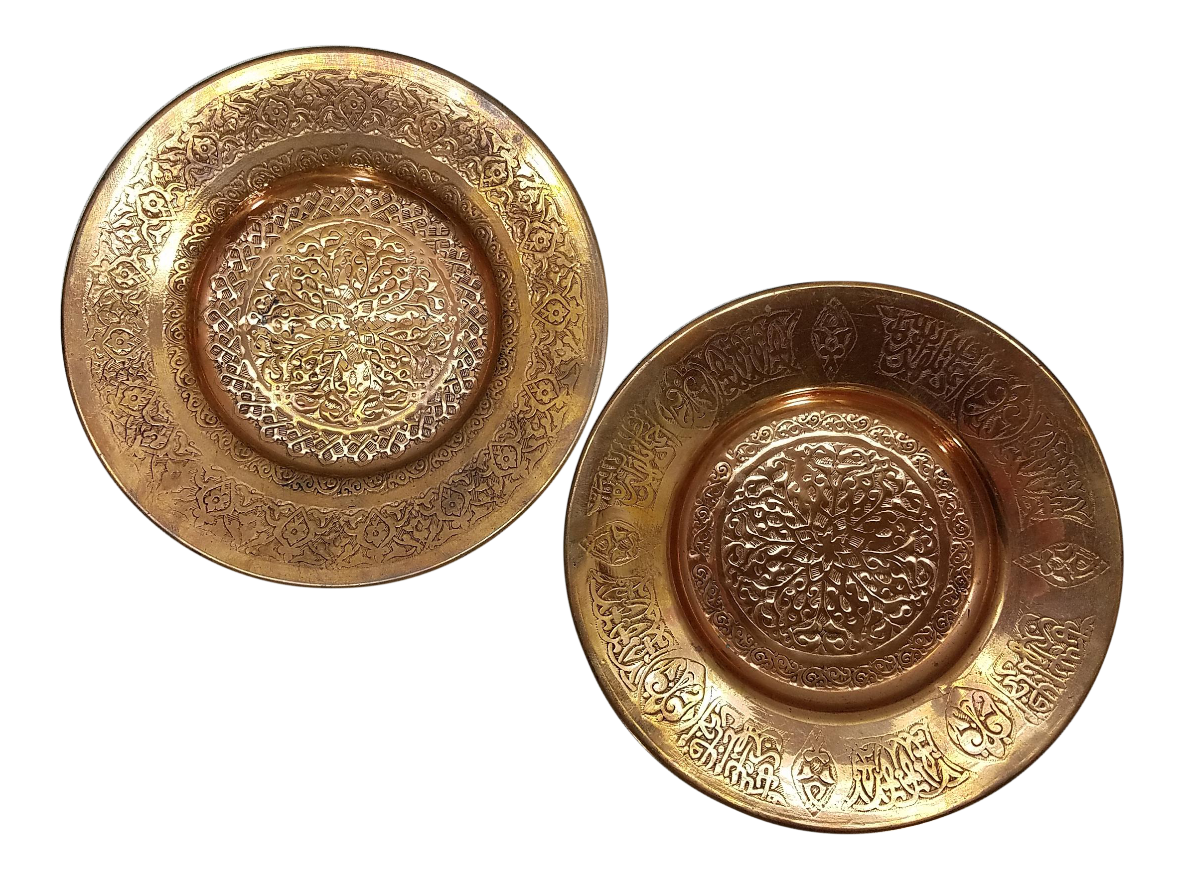 Vintage Etched Copper Wall Art A Pair  sc 1 st  Chairish & Vintage \u0026 Used Copper Decorative Plates | Chairish