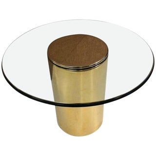 Brass Side Table by Pace For Sale