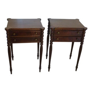 19th Century Early American Sheraton Style Night Tables - a Pair For Sale