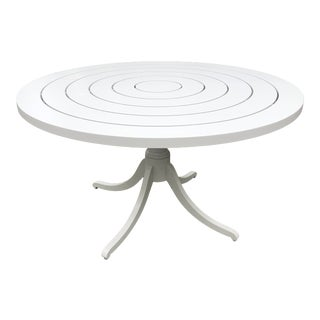 McKinnon and Harris Round Outdoor Patio Dining Table For Sale