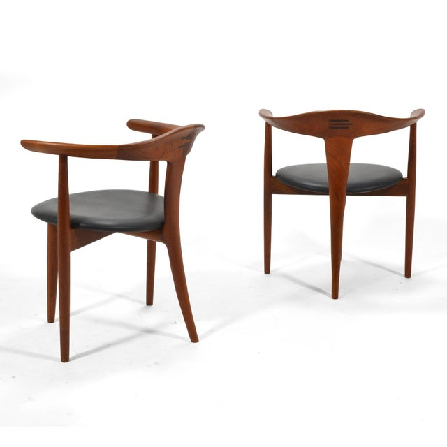 Mid-Century Modern Erik Andersen and Palle Pedersen Pair of Rare Easy Chairs For Sale - Image 3 of 12