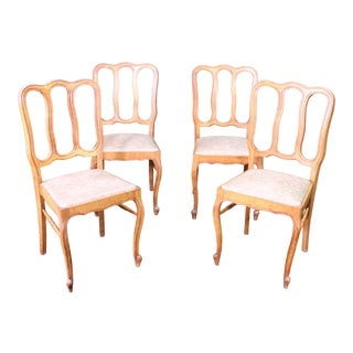 Vintage Mid-Century Back Splat Chairs - Set of 4 For Sale