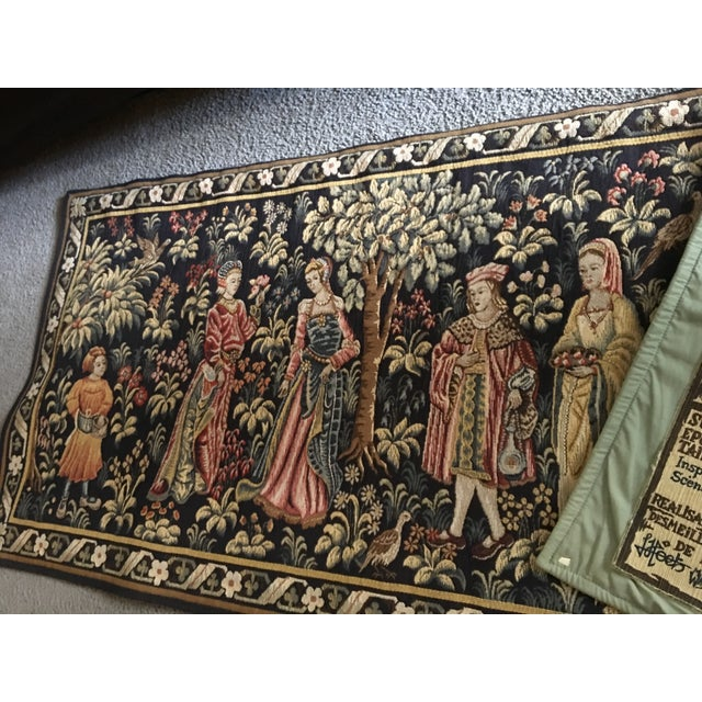 Vintage Point De Loiselles French Wall Tapestry - Image 6 of 7