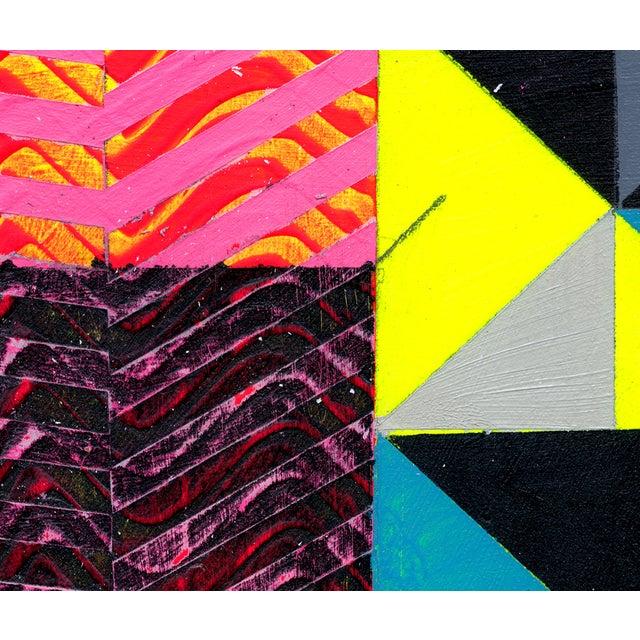 """Ny15 #19"" Original Geometric Painting - Image 3 of 4"