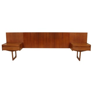 Teak Queen Size Headboard by William Lawrence of Nottingham Preview