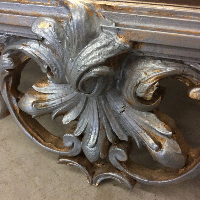 Wood Large Silver and Gold Leaf Mirror For Sale - Image 7 of 13