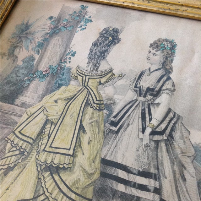 Early 19th Century Antique Parisian Fashion Plate For Sale - Image 5 of 6