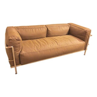 Cassina Outdoor Lc3 Two-Seat Sofa by Le Corbusier For Sale