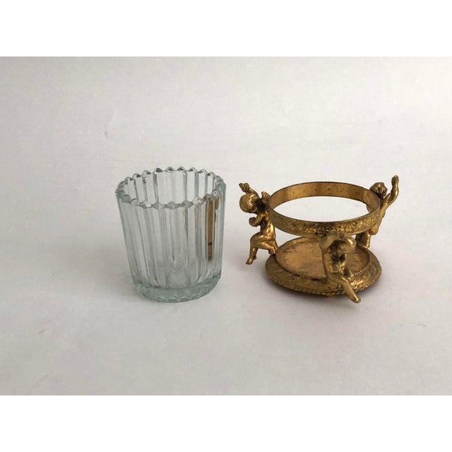 1960s Vintage Gilt Vanity Jar For Sale - Image 4 of 6