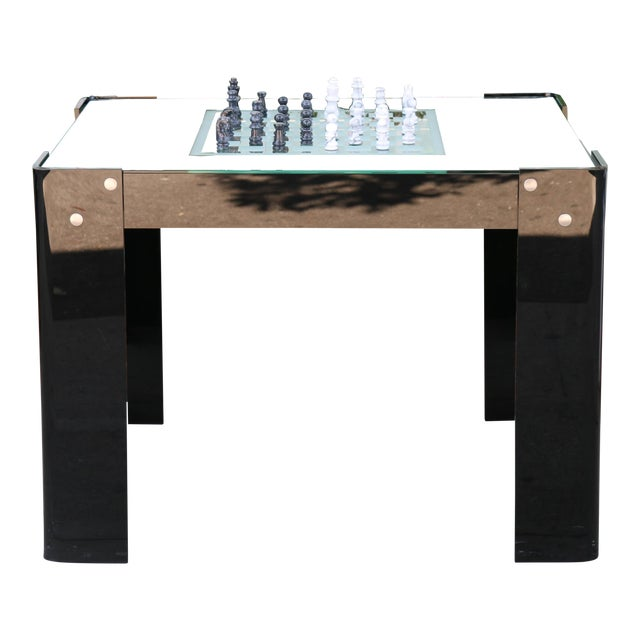 Vintage Lucite Backgammon and Chest Game Table For Sale