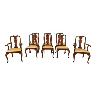 Set of 8 Henkel Harris Model #110 Mahogany Dining Room Chairs For Sale