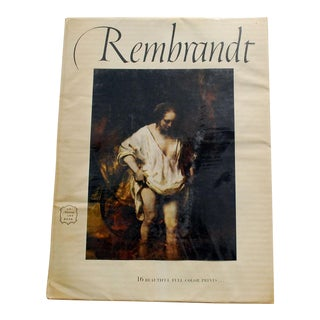 1950s Rembrandt Art Book With 16 Prints For Sale