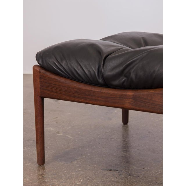 1960s Kristian Vedel Modus Rosewood Ottoman For Sale - Image 5 of 8