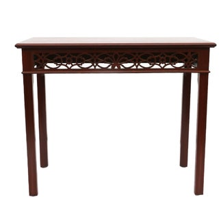 Chippendale Fretwork Console Table For Sale