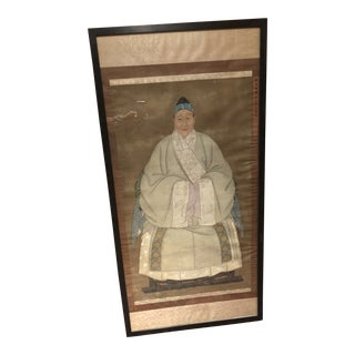 18th Century Chinese Ancestral Painting on Silk For Sale