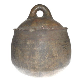 19th Century Rustic Berber Water Vessel With Handle For Sale