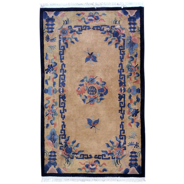 1930s Art Deco Chinese Handmade Rug - 4' X 6' For Sale