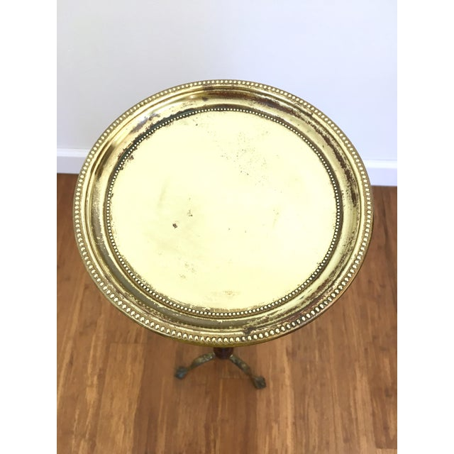 Claw Foot Brass Plant Stand Pedestal For Sale - Image 5 of 6