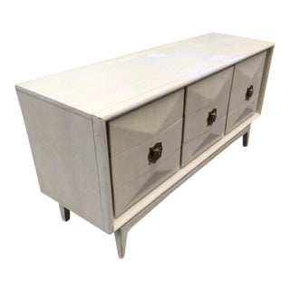 Mid Century Diamond Front United Furniture Dresser/Credenza For Sale