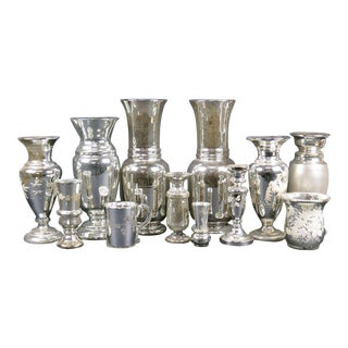 Extensive Collection of Early Mercury Glass For Sale