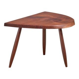 Phillip Lloyd Powell Studio Craft Walnut Side Table, Usa, 1960s For Sale