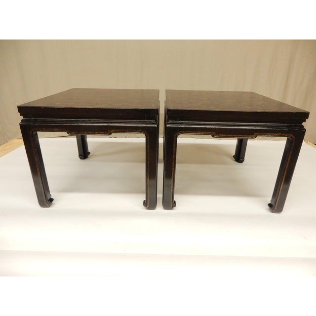 19th Century Chinoiserie Black Lacquered Coffee Tables - a Pair For Sale - Image 4 of 7