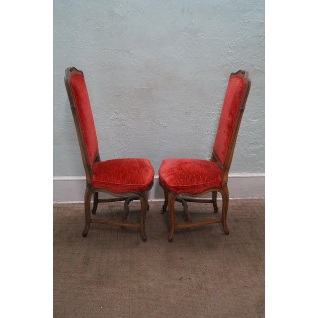 Karges Vintage French High Back Dining Chairs - 8 - Image 3 of 10