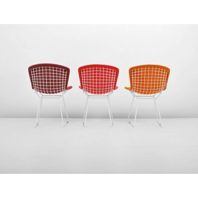 1950s Harry Bertoia for Knoll International Early Production Wire Chairs - Set of 6 For Sale - Image 5 of 8