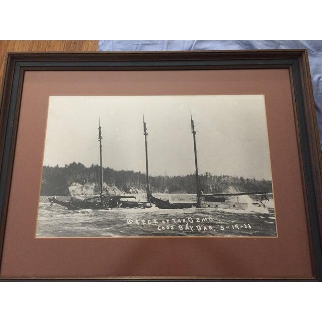 1922 Oregon Coast Shipwreck Print - Image 3 of 3