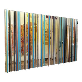 Cathy Choi Reflective Striped Painting For Sale