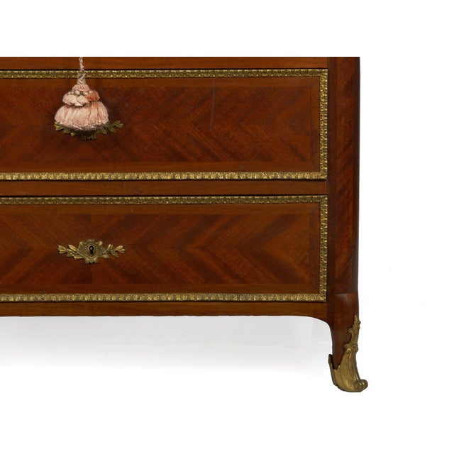 19th Century French Antique Dressing Table Commode Chest of Drawers For Sale - Image 11 of 13