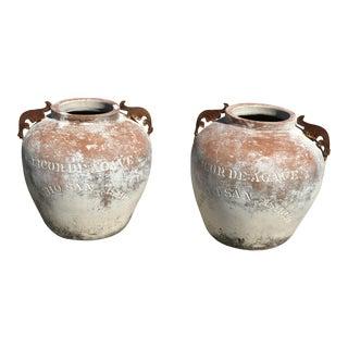 Vintage Italian Olive Oil Jars - A Pair