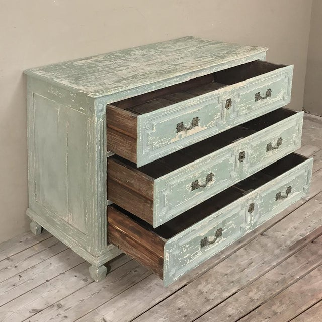 Green 18th Century Country French Painted Commode For Sale - Image 8 of 13
