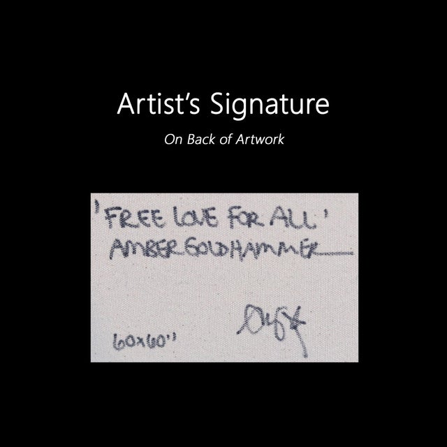 """""""Free Love for All"""" Original Artwork by Amber Goldhammer For Sale - Image 9 of 10"""