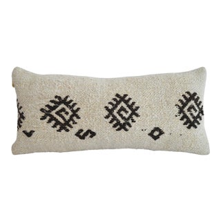 Lumbar Pillow Cover. 100% Natural Hemp Kilim Pillow Throw - 13ʺ X 26ʺ For Sale