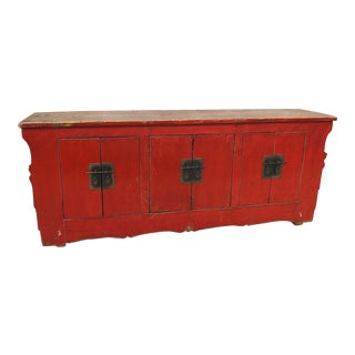 Asian Red Buffet W/ Storage For Sale