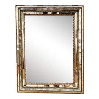 Early 20th Century Venetian Glass Mirror With Original Mirror in Frame For Sale