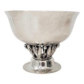 """Georg Jensen (Denmark, 1866-1935) Sterling """"Louvre"""" Bowl C.1920s For Sale"""