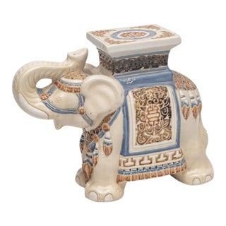 Elephant Ceramic Garden Stool/Side Table/Patio Garden Stool For Sale