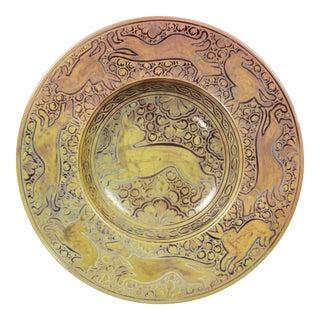 Italian Majolica Bowl by Cantagalli For Sale